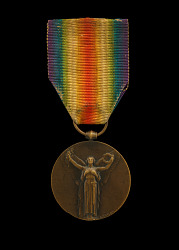 1914 - 1918 Inter-Allied Victory medal issued to Cpl. Lawrence Leslie McVey