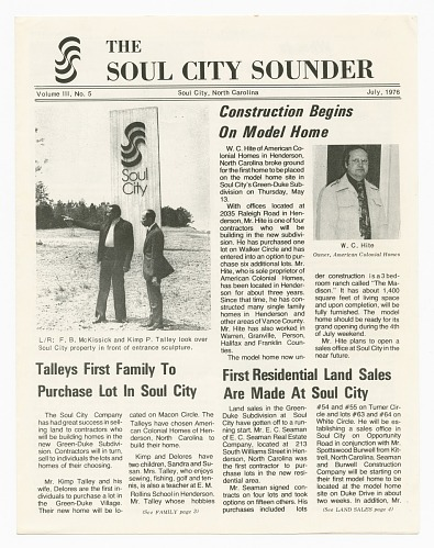 Image for The Soul City Sounder Vol. III, No. 5