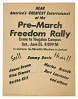 Thumbnail for Flier for a pre-march Freedom Rally for the Meredith Marchers