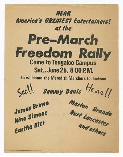 Image for Flier for a pre-march Freedom Rally for the Meredith Marchers