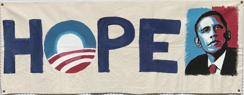 Image for Banner from the 2008 Obama campaign headquarters in Columbia, Missouri