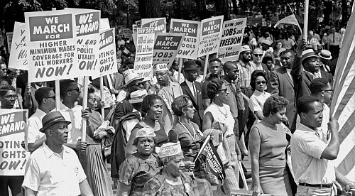 Image for March on Washington--Marchers Gathering at the Lincoln Memorial After Walking from Washington Monument Grounds