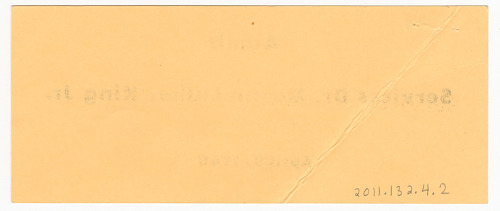 Image for Ticket for funeral services for Martin Luther King, Jr.