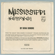 Image for Mississippi Goddam / Sea Lion Woman