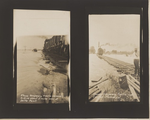 Image for Gelatin silver print of two 1927 Mississippi River flood images