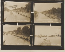 Gelatin silver print of four 1927 Mississippi River flood images