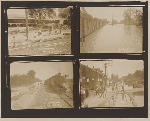 Image for Gelatin silver print of four 1927 Mississippi River flood images