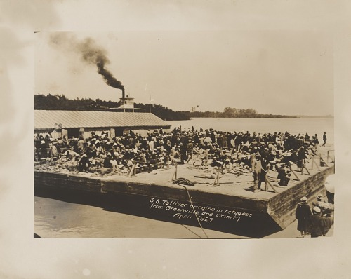 Image for S. S. Toliver Bringing In Refugees from Greenville and Vicinity