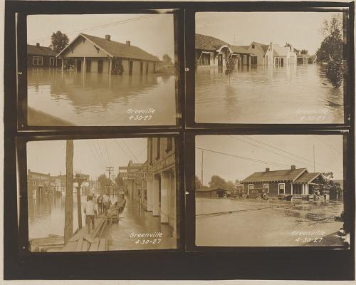 Image for Gelatin silver print of four 1927 Mississippi River flood images