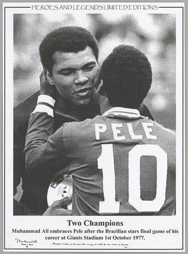 Image for Black and white poster with a photograph of Muhammad Ali and Pelé