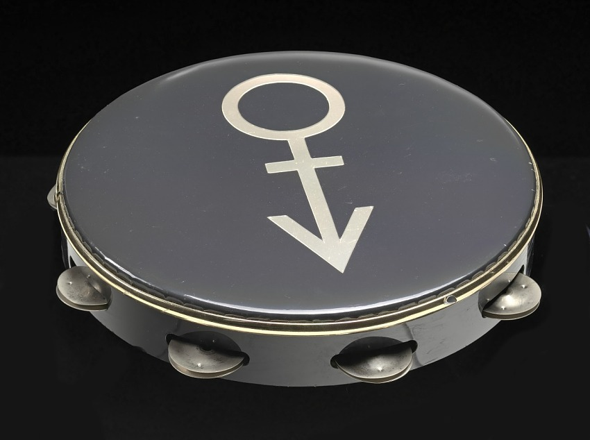 Tambourine used on stage at Wembley Stadium during Prince's Nude Tour