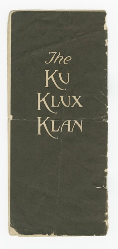 Image for Pamphlet for the Ku Klux Klan written by Colonel William Joseph Simmons