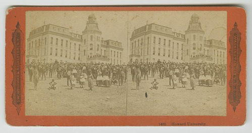 Image for A stereographic postcard of Howard University in the late 19th century
