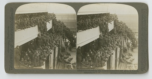 Image for Colored Soldiers who covered themselves with glory in France, returning to US