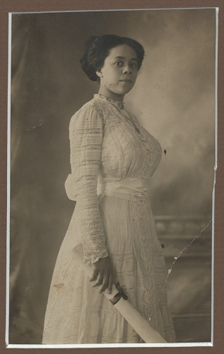 Image for Photograph of Regina Egertion Wright with Colored Training School diploma