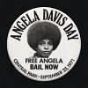 Thumbnail for Pinback button for Angela Davis Day