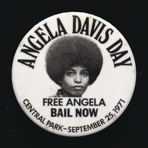 Image for Pinback button for Angela Davis Day