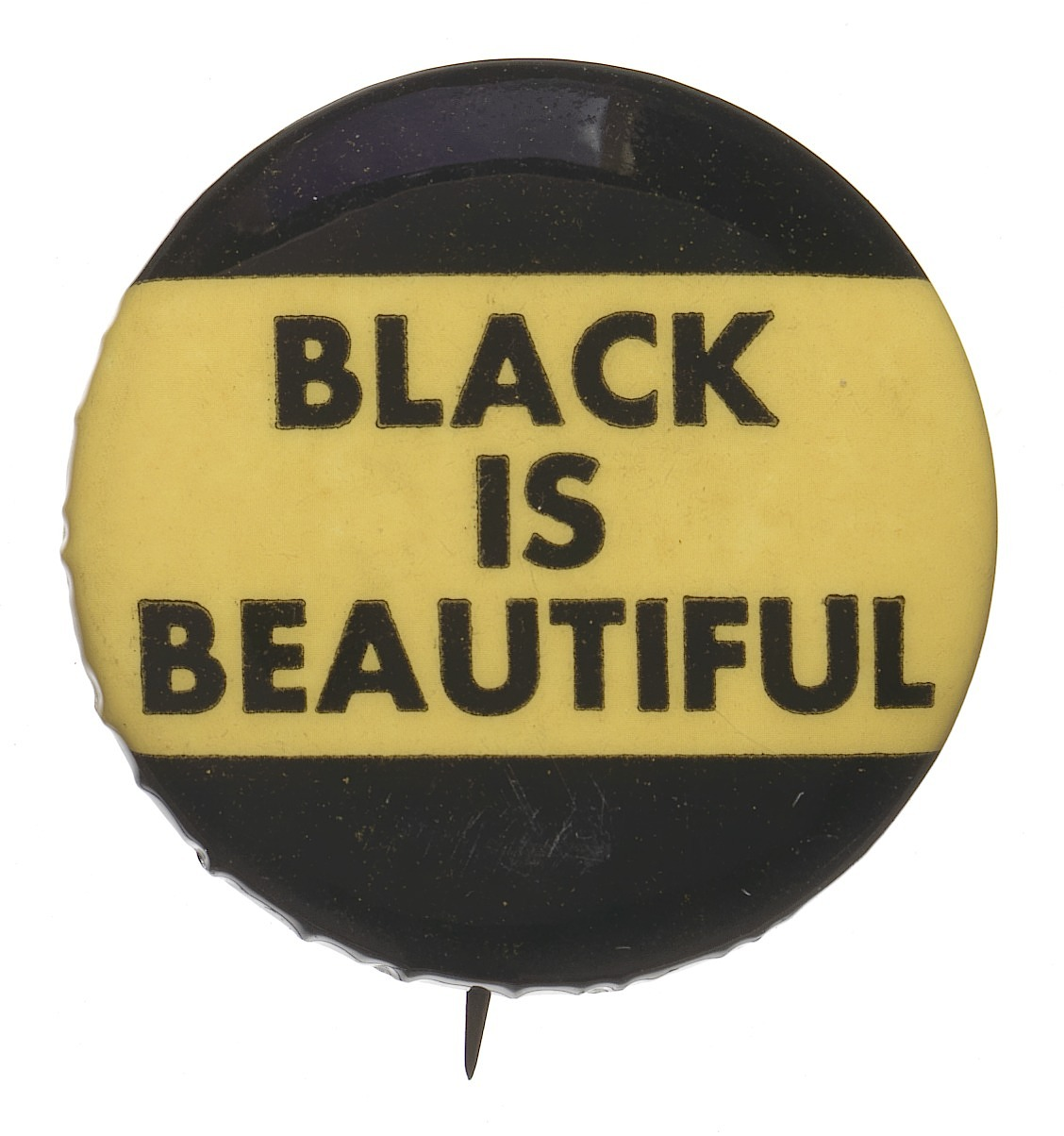 "images for Button declaring ""Black is Beautiful"""