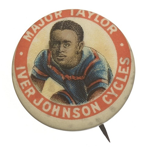 Image for Pinback button featuring Marshall Major Taylor