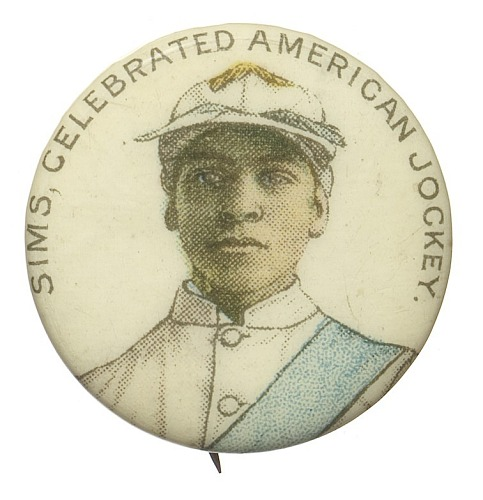 Image for Pinback button featuring Willie Simms