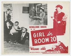 Lobby card for Girl in Room 20