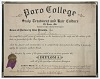 Thumbnail for Diploma issued to Lucille Brown from Poro College