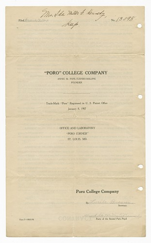 Image for Company contract for Poro College