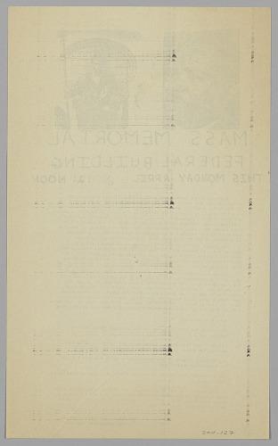 Image for Handbill for Martin Luther King, Jr. Mass Memorial