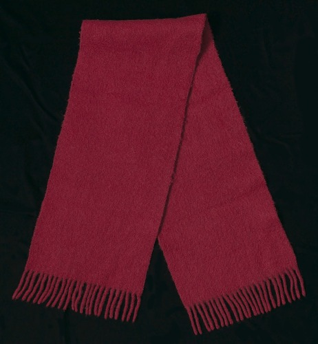 Image for Red wool scarf worn by Joan Mulholland during a protest near the White House