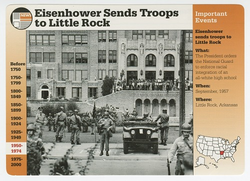 Image for Eisenhower Sends Troops to Little Rock