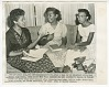 Thumbnail for Copy photo of Minnie Brown, Melba Pattillo, and Thelma Mothershed doing homework
