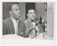 Image for Photograph of Joe Louis and William Rowe