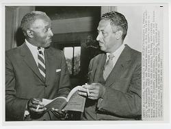Print of Louis J. Redding and Thurgood Marshall