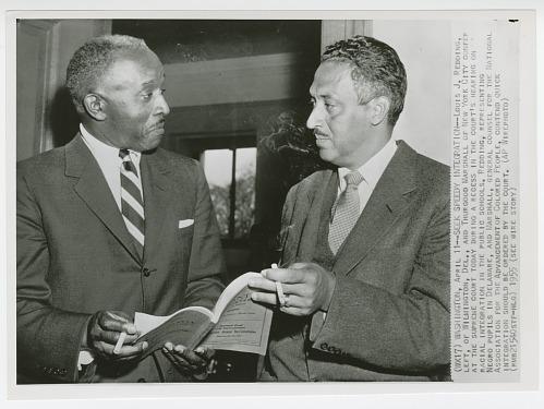 Image for Print of Louis J. Redding and Thurgood Marshall