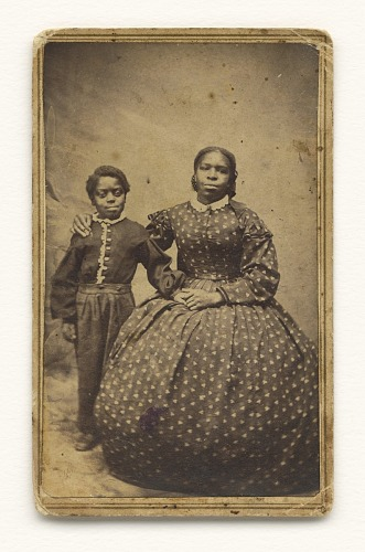 Image for A cabinet card of a woman with a young boy