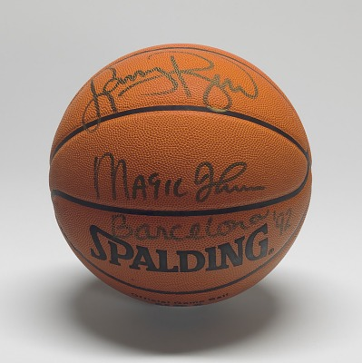 Basketball signed by members of the U.S.