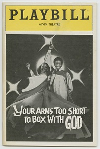 Image for Playbill for Your Arms Too Short to Box With God