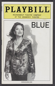 Image for Playbill for Blue