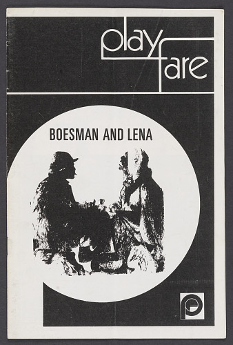 Image for Theatre program for Boesman and Lena