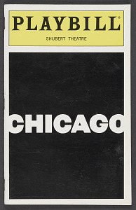 Image for Playbill for Chicago