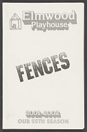 Theatre program for Fences