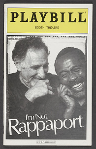 Image for Playbill for I'm Not Rappaport