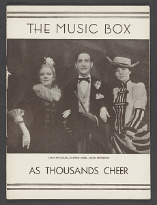 Image for Theatre Program for As Thousands Cheer