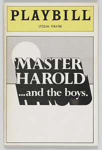Image for Playbill for 'Master Harold' …and the boys