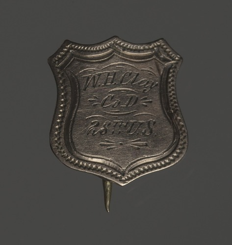 Image for Shield-shaped identification pin for William H. Clay