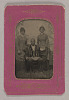 Thumbnail for Tintype photograph of James Turner, Master Mason, with two women