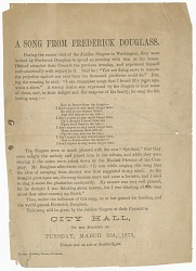 Handbill for a performance by the Fisk Jubilee Singers