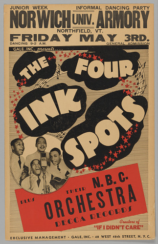 Image for Poster for The Four Inkspots and the N.B.C. Orchestra
