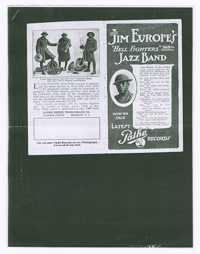Image for Photograph of Jim Europe's 369th Infantry Harlem Hellfighters Brass Band