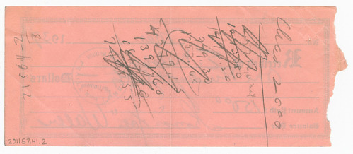 Image for Receipt signed by Fats Waller